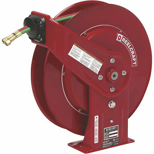 Reelcraft Spring Retractable Gas Welding Hose Reel 200 Psi 50ft X 1 4in Hose