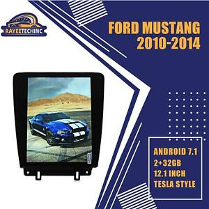 12 1 Android 7 1 Tesla Vertical Big Screen Gps Radio For Ford Mustang 2010 2014