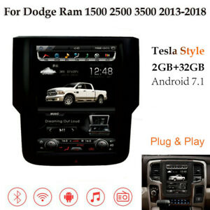 Android Radio Verticcal Screen Gps Stereo For Dodge Ram 1500 2500 3500 2013 2019