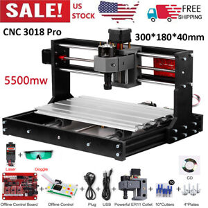 Cnc3018pro Diy Wood Router Engraving 3 Axi s Pcb Milling Machine 5500mw Y3a4