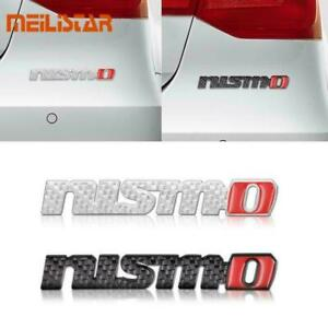 New Nismo Rear Trunk Badge Fender Emblem Metal Decal Black Or Silver Carbon Look