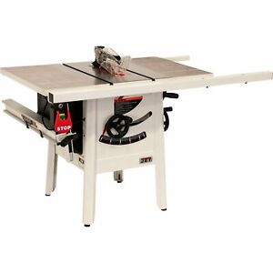 Jet Proshop 10in Table Saw 1 75 Hp 115 Volt 30in Rip Steel Wings Model Jps 10