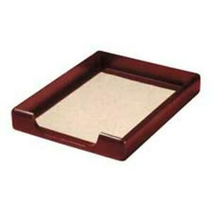 Wood Tray Letter Front Load Black