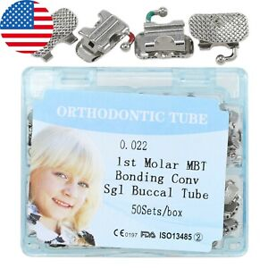 50sets Dental Orthodontic Convertible Buccal Tubes First Molar Mbt 022 Bonding