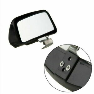 Car Exterior Rear View Blind Spot Side Mirror Wide Angle Driving Safety Black
