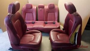 Maserati Ghibli 2014 Seat Set Front Bucket And Rear Bench Red Leather 1991354