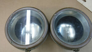 Antique Car Small Black And Brass Carbide Headlights Mt 4880