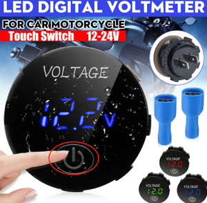 5 48v Led Digital Voltmeter Volt Meter Touch Switch Car Battery Voltage Gauge Gt