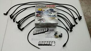Moroso Big Block Chevy 454 7 4l Spark Plug Wires 90 Deg Boots Hei Under Header