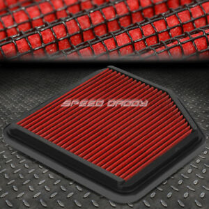 For 06 13 Lexus Is250 is350 Red Reusable washable High Flow Panel Air Filter