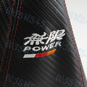 Red Stitch Mugen Carbon Look Pvc Black Jdm Shift Knob Shifter Boot Cover Mt At