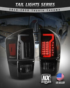For 16 20 Toyota Tacoma Led Tail Lights Brake Turn Signal Rear Smoke Aftermarket