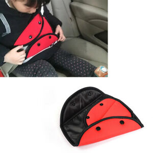 Car Seat Safety Belt Cover Sturdy Adjustable Triangle Pad Clips Child Protection