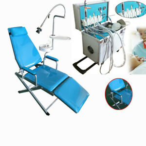 Dental Delivery Unit Mobile Cart Portable Led Light water Supply Folding Chair