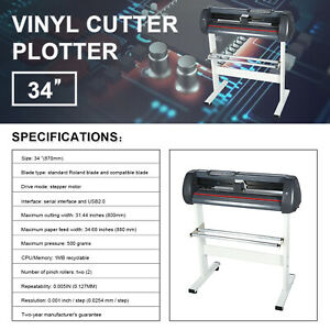Vinyl Cutter 34 Inch Plotter Machine Paper Feed Vinyl Cutter Plotter With Stand