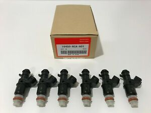 6pcs New Oem Fuel Injectors For Honda Acura 16450 rca a01