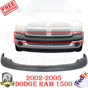 Front Bumper Upper Cover Fascia Textured For 2002 05 Ram 1500 03 05 2500 3500