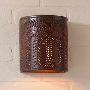 Willow Wall Sconce Light In Rustic Tin