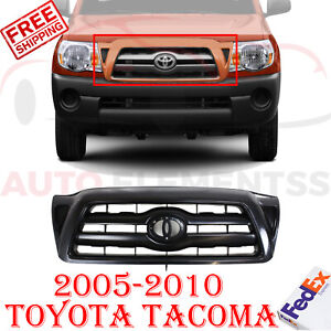 Front Grille Primed Shell And Insert For 2005 2010 Toyota Tacoma 2 pc Assembly