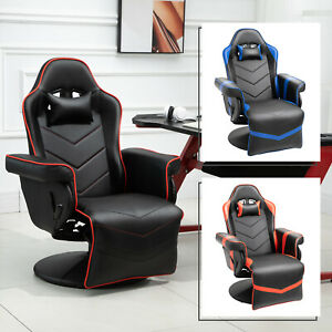 Vinsetto Home Comfort Office Video Game Swivel Chair W Ergonomic Design
