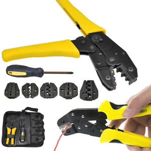 New Ratcheting Terminal Crimper Tool Set wire Ferrules Crimping For 0 5 35 Mm