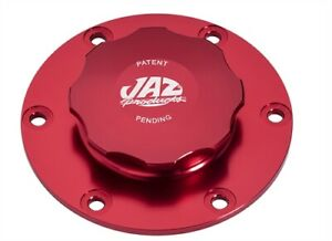Jaz Products 391 725 06 Billet Fuel Cell Cap Assembly Red 6 Bolt Includes All Mo