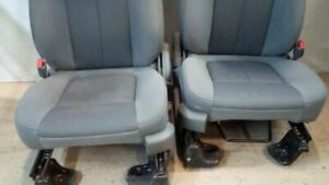 Left Right Pair Front Bucket Seats Cloth Fits 11 14 Ford F150 6568464