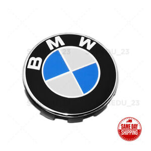 Wheel Center Cap With Bmw Roundel Emblem Chrome Ring Bmw 36 13 6 783 536