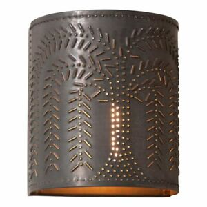 Willow Wall Sconce Light In Kettle Black Tin