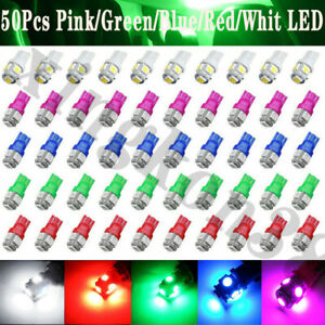 50pcs T10 Wedge 168 194 5050 5smd Led Interior Dome Map Trunk License Light Bulb