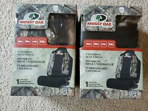 Mossy Oak Break Up Country Camo Universal Safe Seam Seat Cover Lot Of 2