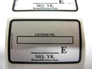 Visual Inspection Sticker Dot Propane Tank Certificate Requalification Label