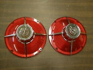 Nos Globrite Ford 1963 Galaxie 500 Xl Tail Light Lamp Lenses Pair