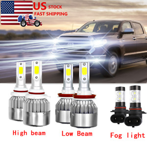 For 2007 2013 Toyota Tundra Combo H11 9005 9145 Led Headlight Fog Light Bulbs