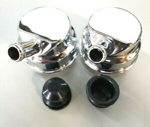 Pair Chrysler Mopar Dodge Style Valve Cover Breathers W Grommets 5 8 Vent Tube