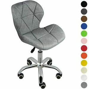 New Cushioned Computer Desk Office Chair Legs Lift Swivel Small Adjustable