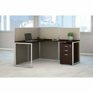 Easy Office 60w L Shaped Cubicle Desk Set By Bush Business