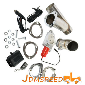 2 5 Inch 63mm Remote Electric Exhaust Catback Downpipe Cutout E Cut Out Valve
