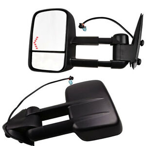 Towing Power Heated Lh Rh Side Mirrors W Led Turn Signal For 03 06 Silverado