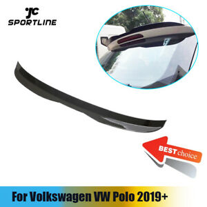 For Volkswagen Vw Polo 2019 Rear Roof Spoiler Tail Top Wing Glossy Black Abs
