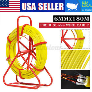 6mm 0 24 150m Fiberglass Wire Cable Rod Snake Duct Rodder Puller Fish