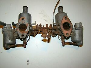 Triumph Tr1 Su Carb Carburetor Set Mg Austin Healey Pair Carburetors Carbs