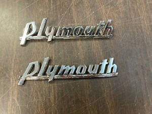 1939 1940 Plymouth Grille Emblems Pair Original 520