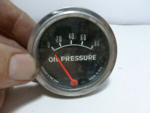 Vtg Vintage Oil Pressure Gauge Rare 2525 5 514 Ford Chevy Dodge Usa Made