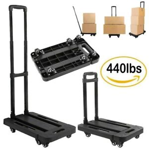 440lbs Platform Cart Dolly Folding Foldable Moving Warehouse Push Hand Truck Ak