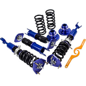Coilovers Shocks Absorbers Suspension Kits For Nissan 350z Z33 2003 2008 Blue