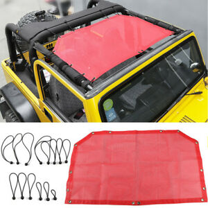 Front Sunshade Mesh Top Cover Bikini Uv Protection For Jeep Wrangler Tj 97 06 Fits More Than One Vehicle