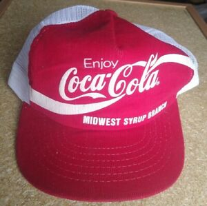 COCA-COLA VINTAGE SNAP BACK 70's/80's MADE IN USA (Midwest Syrup Branch)