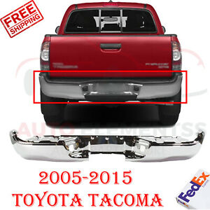 Rear Step Bumper Chrome Steel For 2005 2015 Toyota Tacoma W Sr5 Pkg Fleetside
