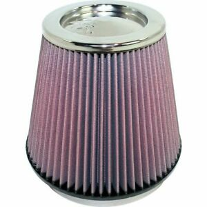 K n 6 Round Tapered Universal Air Intake Cone Filter Chrome Top Car truck suv